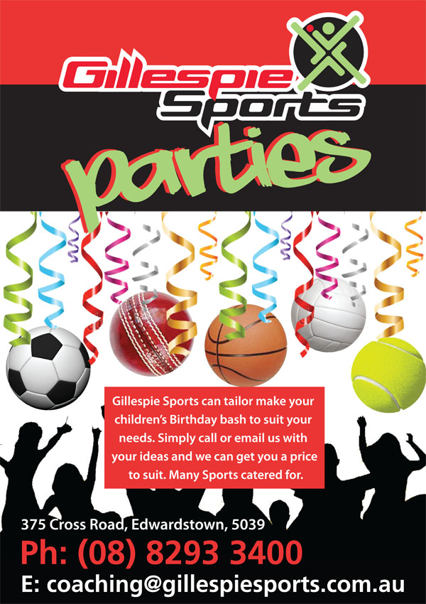 Birthday Parties at Gillespie Sports